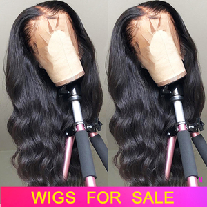 Lace Front Human Hair Wigs Pre Plucked Body Wave Wig Virgo 13x4 150% Peruvian Body Wave Remy Hair Lace Frontal Wigs For Women(China)