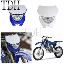 Фара для мотоцикла Supermoto, передняя фара для мотокросса, эндуро, для мотоцикла Yamaha WRF250/400/426/450 YZ TTR WR MX, белая, синяя, Черная