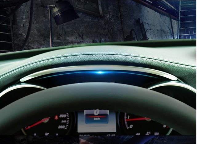 غير القابل للصدأ الصلب لوحة سيارة قطاع الكسوة لمرسيدس بنز C الفئة W205 GLC X253 2015 2018 اكسسوارات السيارات الداخلية