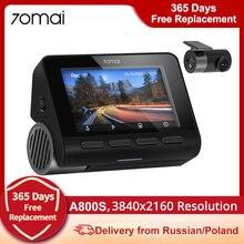 70mai A800 A800S 4K cámara de salpicadero 4K GPS construido en DVR ADAS Dual-visión 140 de visión