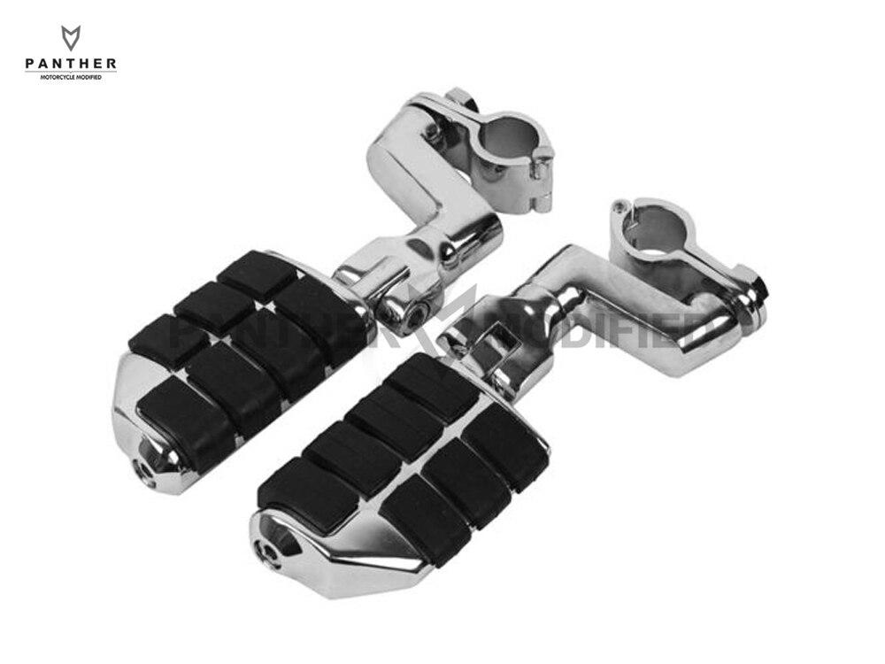 Universal 25mm Motorcycle Foot Rest Foot Pegs Case For Yamaha V-STAR XVS1300 XVS650 XVS950
