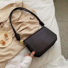 Retro Crocodile Crossbody Bags For Women Fashion Stone Pattern Small Flap Bag Ladies Handbags Clutch Purses Lady Totes