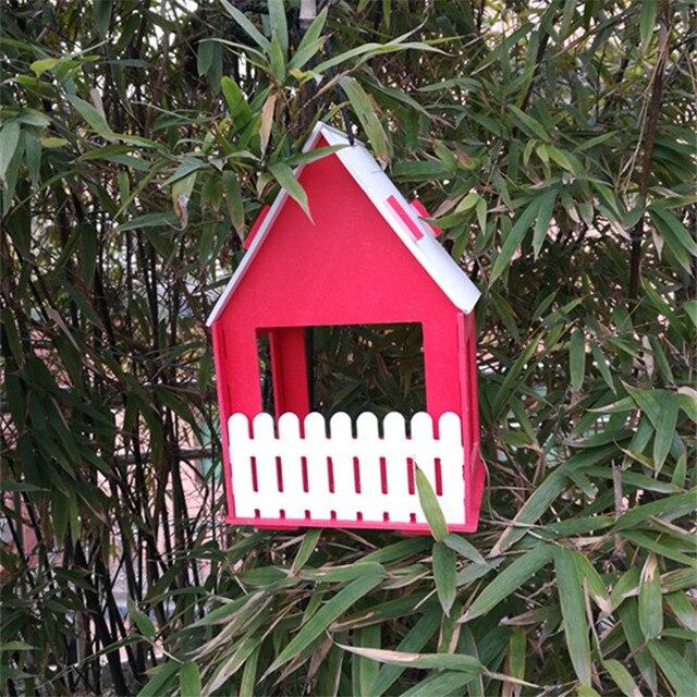 Wooden Bird House Garden Deco  6