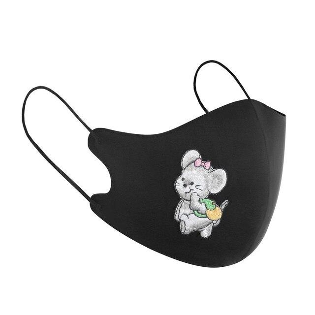 New Arrivals 2020 Washable Reusable Daisy Crane Pattern Face Mask 3D Cloth Dust proof Women Men Mouth Masks Unisex Korean 2