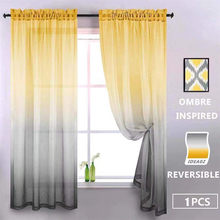 Gradient Color Home Bedroom Decoration Tulle Sheer Curtains for Living Room Door Window Screening Scarf Modern Curtains 1PC(China)