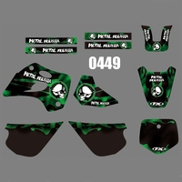 motorcycle accessories For KAWASAKI KX80 1994-1997 Graphics Decals Stickers Custom Number Name 3M Full  Motorcycle Backgrounds Stickers Accessories (1)