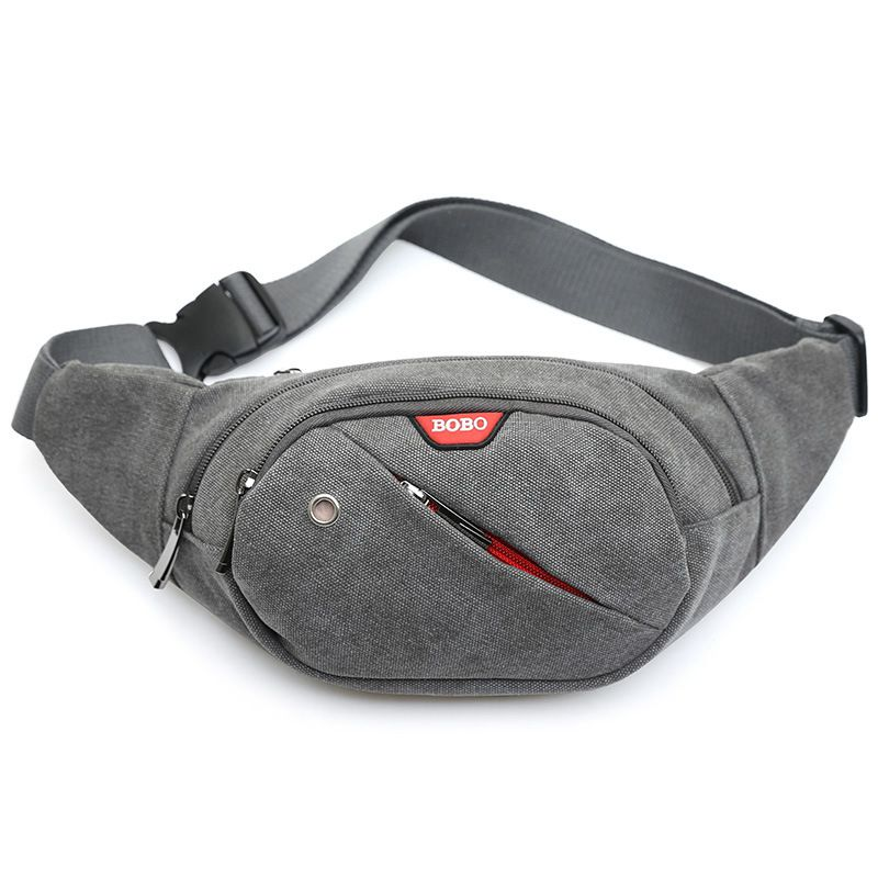 Waist Pack For Men Women Fanny Pack Money Handbag Belt Travelling Mountaineering Shoulder Mobile Phone Bag Gray