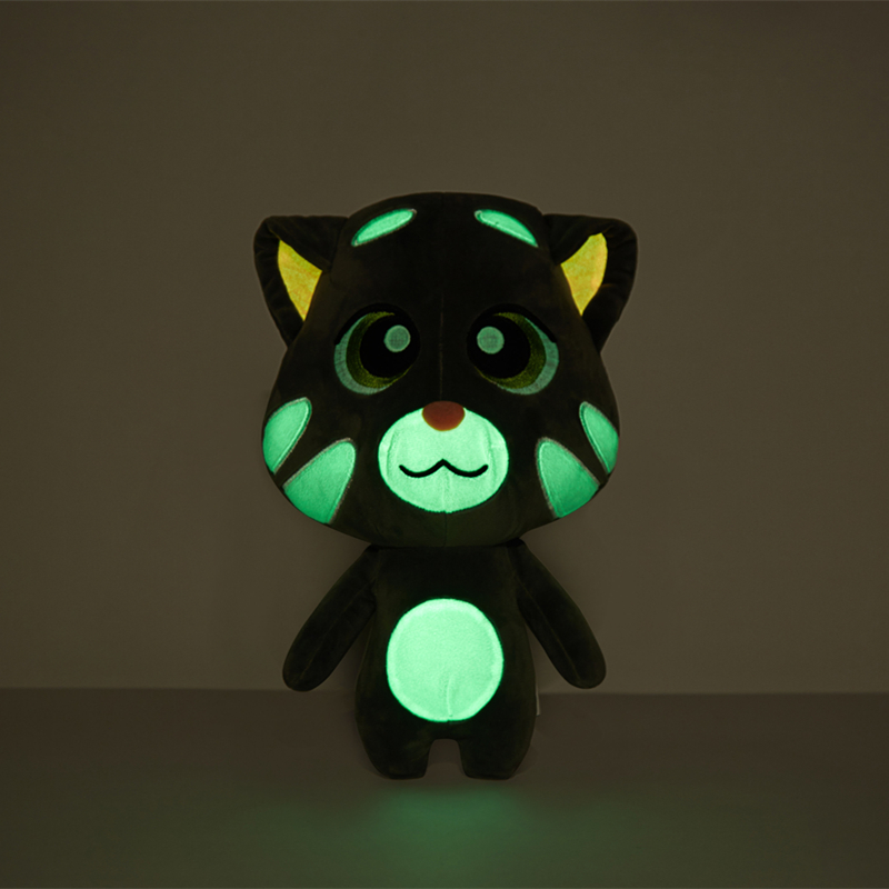 Glow In The Dark Cat Toys 15cm Luminous Stuffed Animals Talking Tom And Friends Safety Material Christmas Birthday Gift For Baby