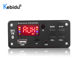 Image 1 - Kebidu Senza Fili 12V Automobile Scheda di Decodifica Auto Bluetooth MP3 WMA USB/SD/FM/AUX Audio Piastra modulo di Schermo a Colori Auto MP3 Altoparlante