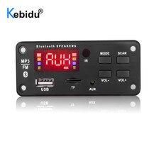 Kebidu Wireless 12V Automobile Decoder Board Car Bluetooth MP3 WMA USB/SD/FM/AUX Plate Audio Module Color Screen Car MP3 Speaker