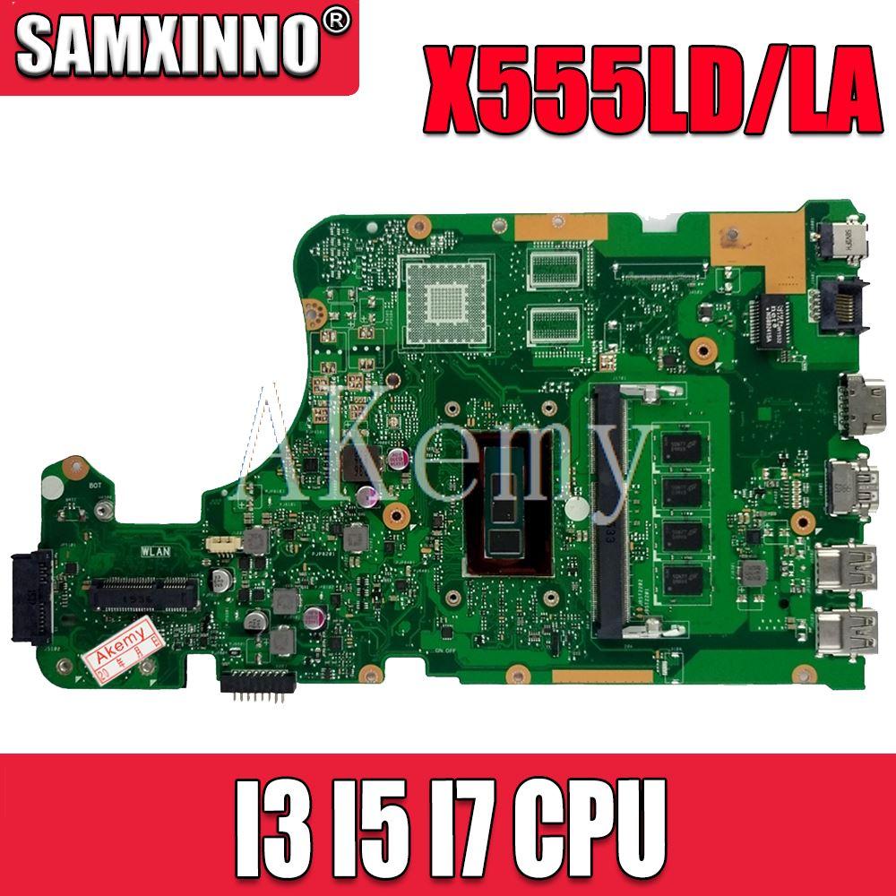 NEW!! X555LA Laptop Motherboard FOR ASUS X555L X555LJ X555LD X555LP W519L K555L A555L Mainboard 100% Tested 4GB RAM I3 I5 I7 CPU