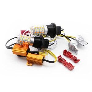 Drl Поворотный Светильник py21w p21w canbus 1156 ba15s p21w светодиодный автомобильный светильник двойной цвет drl Switchback 1056 BAU15S лампа ходовой светильник