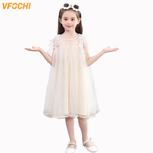 VFOCHI Girl Princess Dresses Summer Cute Girls Clothes Elegant Lace Baby Kids for 2-10Y Ball Gown tutu