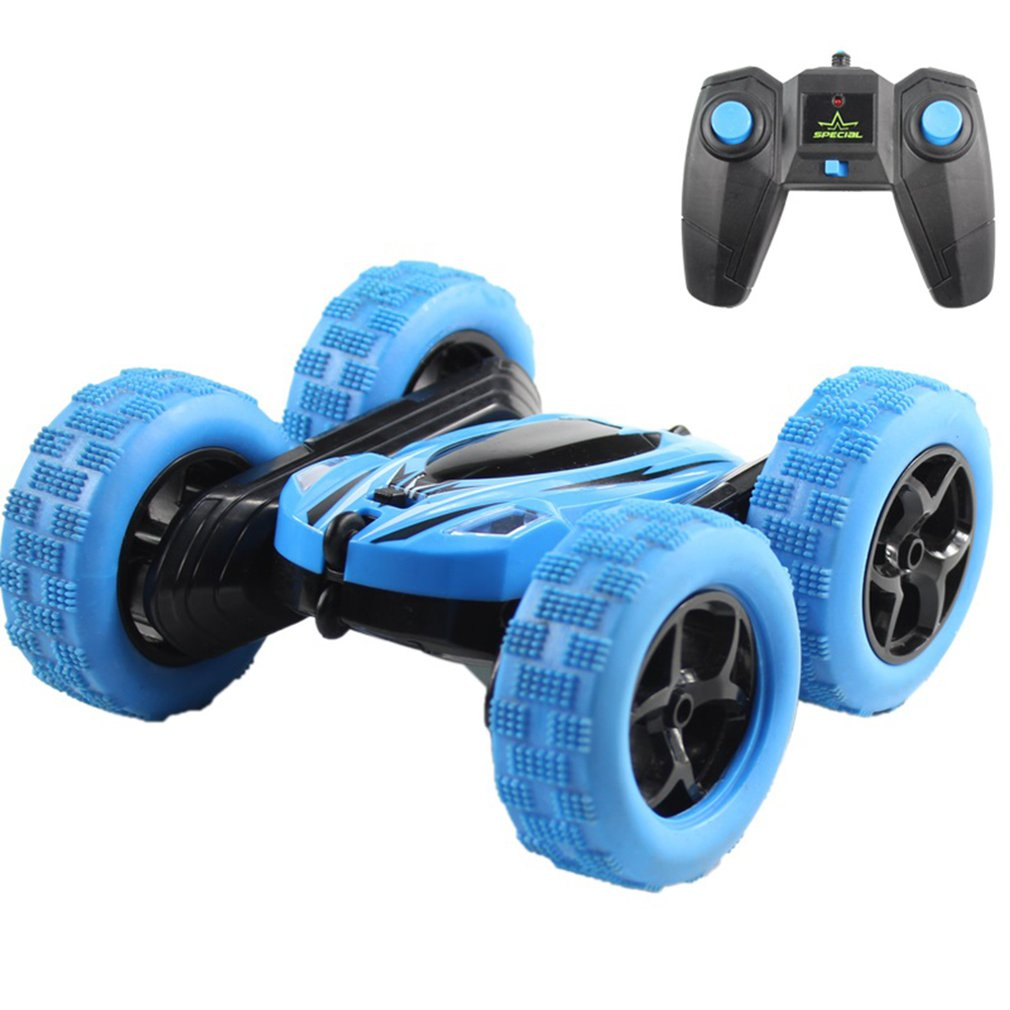 Off-Road Remote Control Car Four-Wheel Drive Stunt Car With Cool Lighting 2.4G Stunt Double-Sided Car Remote Control Toy Bag