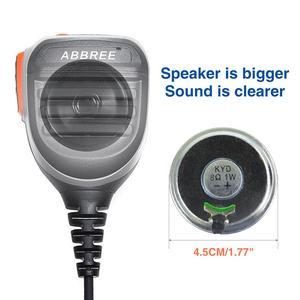 Image 4 - 2PCS ABBREE AR 780 עמיד למים כתף רמקול מיקרופון למכשיר קשר TH UV8000D MD 380 Baofeng UV S9 BF UVB3 בתוספת AR F8