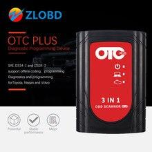 OTC Plus 3 in 1 Diagnose Werkzeuge techstream konsultieren 3 plus otc scanner ForNissan /Tyota/Volvo vida würfel OBD Scanner GTS Mit HDD