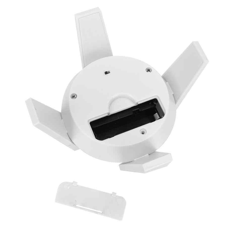 Présentoir rotatif portatif de platine tournante actionné solaire de lumière LED blanche pour l'affichage de bijoux d'appareil-photo de montres de téléphone de bijoux