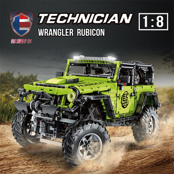 MOC Technic Series RC Jeeps Wrangler Rubico Adventure Off-road vehicle Model Building Blocks Bricks Compatible lepining DIY Toys lepin 23011 2959pcs technic series off road vehicle compatible with moc 5360 model building sets blocks bricks educational toys