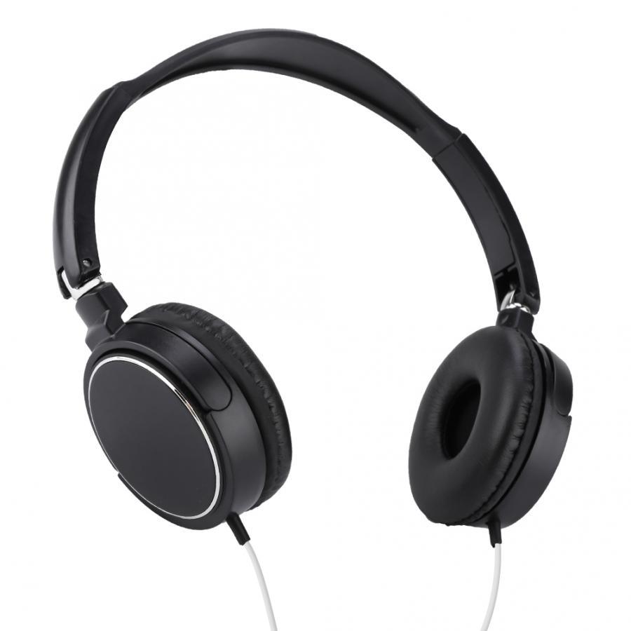 Foldable Compact Wired Headset Stereo HiFi Music Headphone Support TF Card Studio Headphone