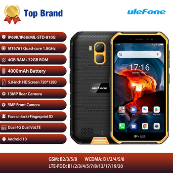 Ulefone Armor X7 Pro Cell Phone 4GB RAM Android10 Smartphone ip68 Rugged Waterproof Mobile Phone 4G LTE 2.4G/5G WLAN NFC Phone