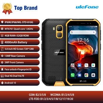 Перейти на Алиэкспресс и купить Ulefone Armor X7 Pro мобильный телефон 4 Гб RAM Android10 смартфон ip68 прочный водонепроницаемый мобильный телефон 4G LTE 2,4G/5G WLAN NFC телефон