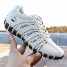 2020 New Women Shoes Striped Shallow Lace Up Soft W