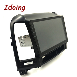 "Image 4 - Idoing 9 ""1Din Android Auto Radio Multimedia Stereo Audio Player Navi GPS Für Hyundai Santa Fe 2 2006 2012 4G + 64G Octa Core DSP"