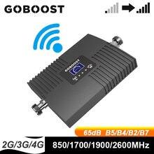 GOBOOST усилитель сигнала 2g, 3g, 4g, Сотовая связь Усилитель 850 LTE 1700 1900 2600 МГц Мобильный телефон сети Wi Fi ретранслятор улучшить голосовых данных