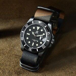 Image 4 - San Martin Diverนาฬิกาขัดสแตนเลสเซรามิคผู้ชายนาฬิกาSapphireสายหนังกันน้ำ