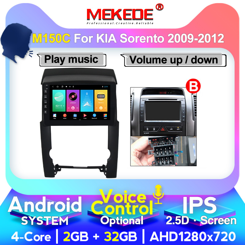 MEKEDE M400 For Kia Sorento 2 XM 2009-2012 Car Radio Multimedia Video Player Navigation GPS Android 2.5D Screen 8 Core