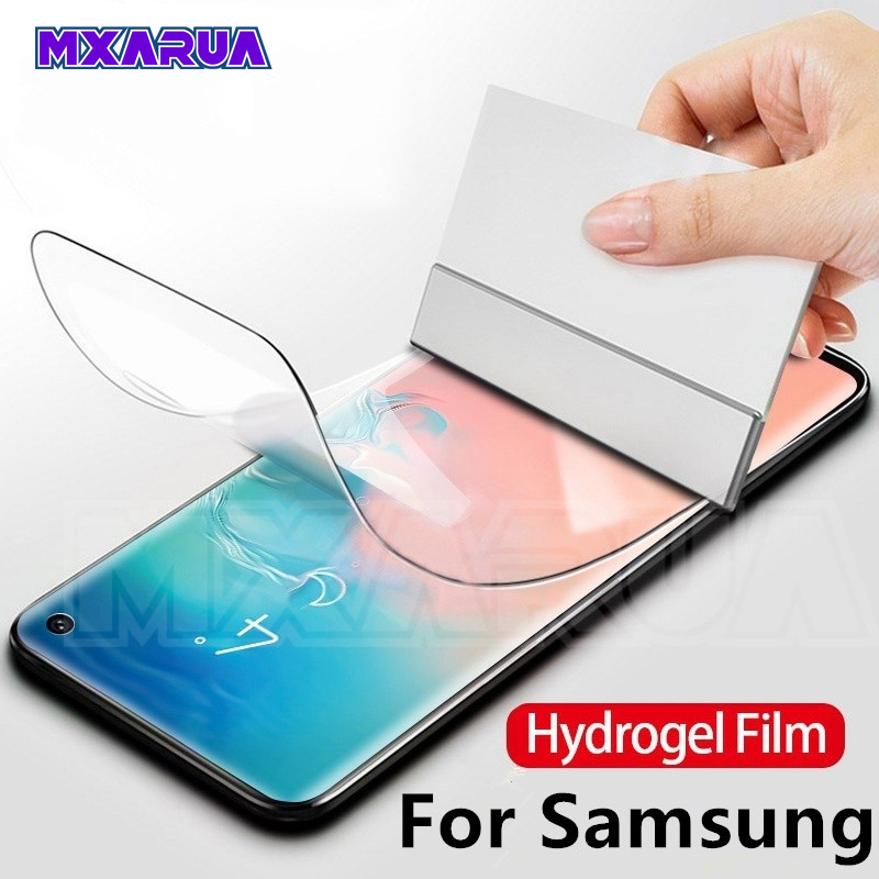 100D Full Curved Hydrogel <font><b>Film</b></font> on the For <font><b>Samsung</b></font> Galaxy S10 S9 S8 Plus S10e <font><b>S7</b></font> Edge A6 A8 Plus 2018 <font><b>Screen</b></font> <font><b>Protector</b></font> Soft <font><b>Film</b></font> image