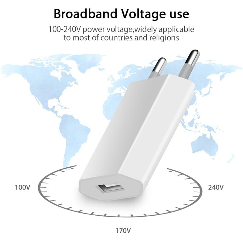 USB зарядное устройство для мобильного телефона зарядное устройство Европейского Универсальное зарядное USB устройство с AC дорожное Сетевое зарядное устройство адаптер питания для Apple iPhone 6 6S 5 5S 4 4S-3