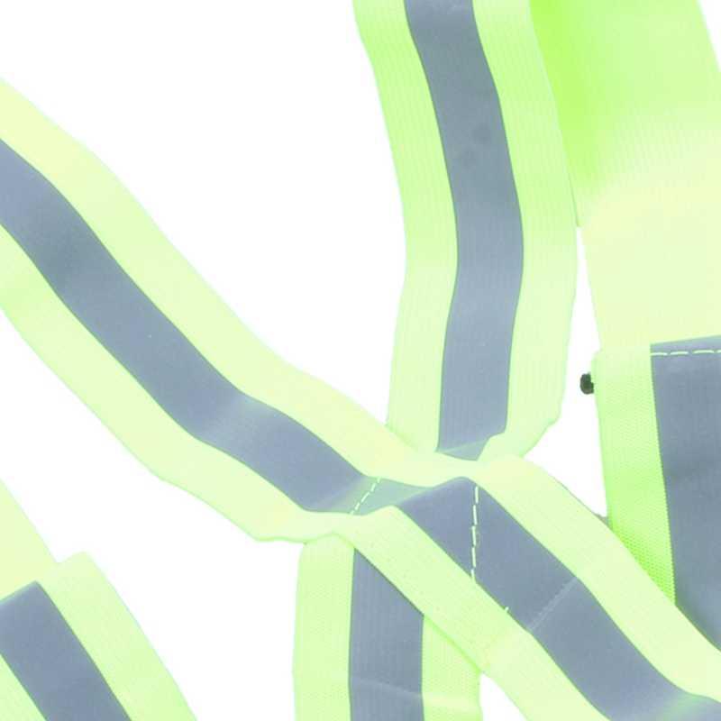 Reflektierende Sicherheits Weste Reflektierende Gürtel Sichtbarkeit Kreuz Gürtel Band Harness Gürtel Taille Gürtel, Grün