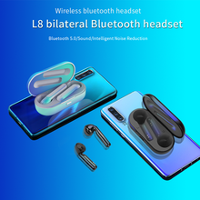 цена на Wireless Headphones L8 TWS Bluetooth Earphones Sport Mini Earphone Stereo Waterproof Headset Noise Canceling Bluetooth Headphone