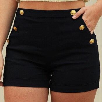 Shorts Women Femme Casual Plus Size Zipper Elastic Band Hot Lady Summer Shorts