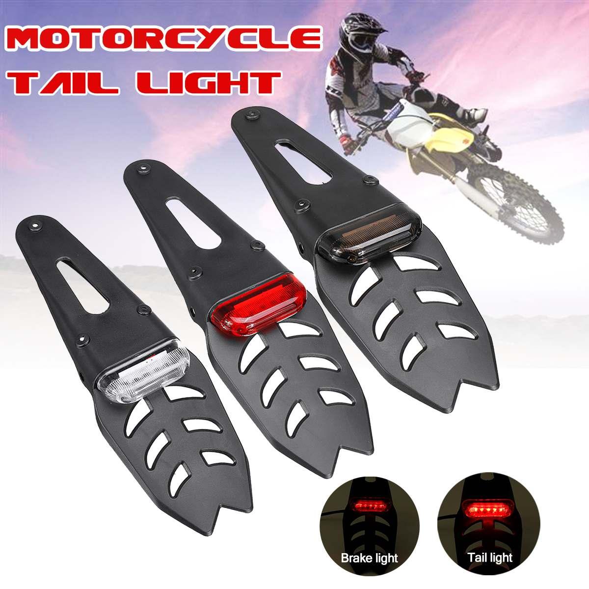 Rear Fender LED Brake Tail Light Dirt Bike...