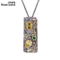 «Colar gótico com pingente para mulheres, colar com pedra idade, personagem forte, cor preta ou dourada, olivine verde cz wp6671