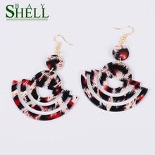 Shell Bay Punk Fashion Jewelry Earrings For Women Kpop Earrings Cute Barring Minimalist Leopard Earrings Rainbow Earings Simple
