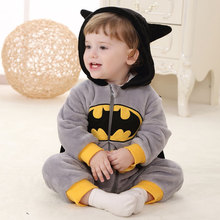 Batman Kigurumis Baby Anime Super Hero Cosplay Costume Child Pajama Onesie Cartoon Bat Man Sleep Suit Boy Girl Play Outfit Fancy