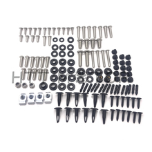Aftermarket free shipping motorcycle parts For 08-15 Suzuki Hayabusa GSX-R1300 Fairing Bolt Kit Screw Bolt Fastener Complete chr цена 2017