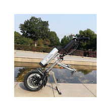 48v 500w Model sportowy wózek inwalidzki elektryczny ręczny składany wózek inwalidzki załącznik ręczny rower zestawy do konwersji wózka inwalidzkiego
