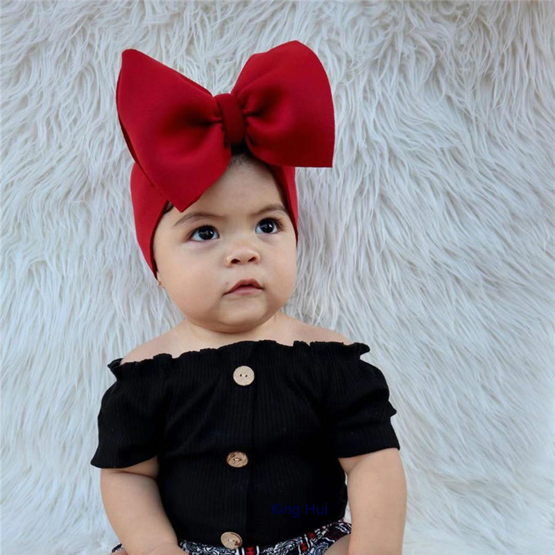 Diademas Para Bebe Turban Opaska Dla Dziewczynki Hair Ribbons For Baby Headband Bow Bandeau Bebe Fille Haarband Baby Head Wraps