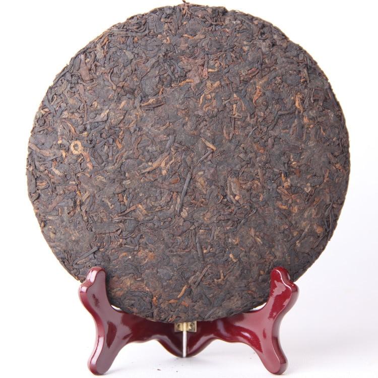 357g China Yunnan Ripe pu'er  tea Collecting Pu'er 2012 Old Pu'er tea Cake Green Food for Health care lose weight 2