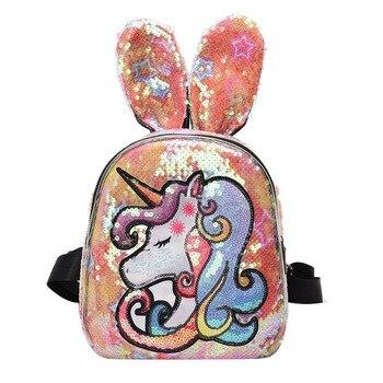 2020 new arrival Shiny cool girls school bag packs designer unicron ladies casual backpacks women bags
