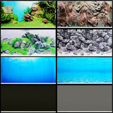 Aquarium background paper mural fish tank with wallpaper double-sided rock ocean water grass JUWEL painting