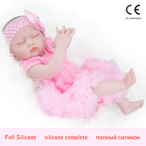 "Reborn baby doll 19"" Inch Realistic Newborn Baby Dolls Reborn Lifelike Full Body Silicone Babies Handmade Toddler Dolls Toys(China)"