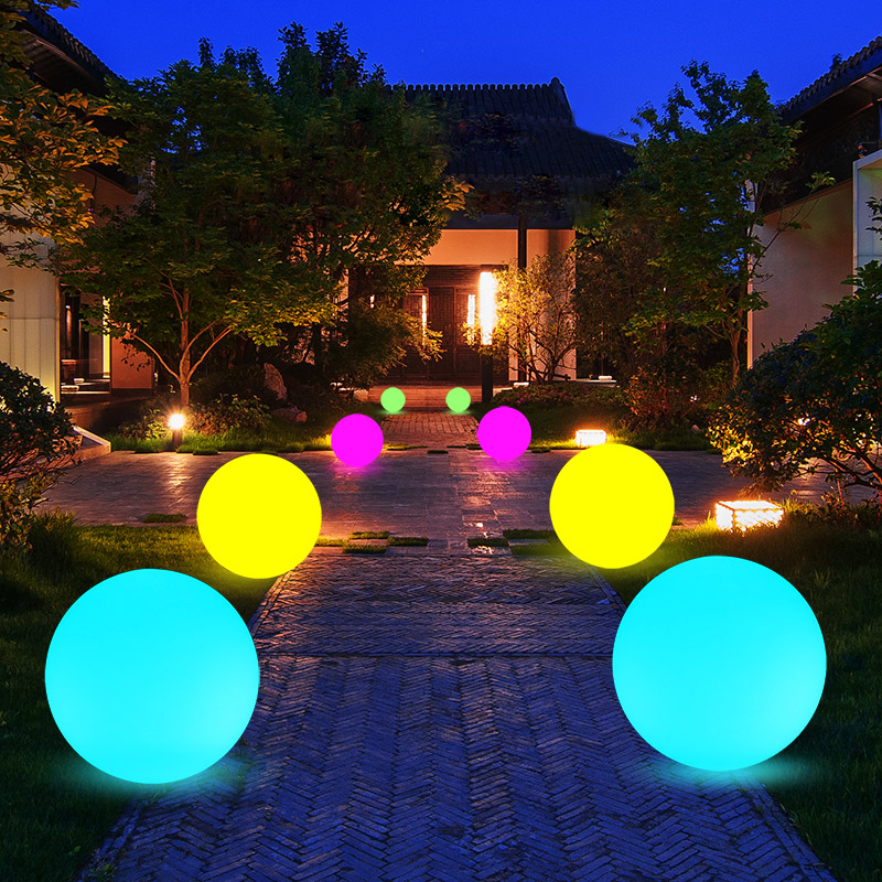 Waterproof 16 Color Outdoor Garden Glowing Ball Light Remote Lawn Lamps Patio Landscape Pathway LED Illuminated Holiday Lighting