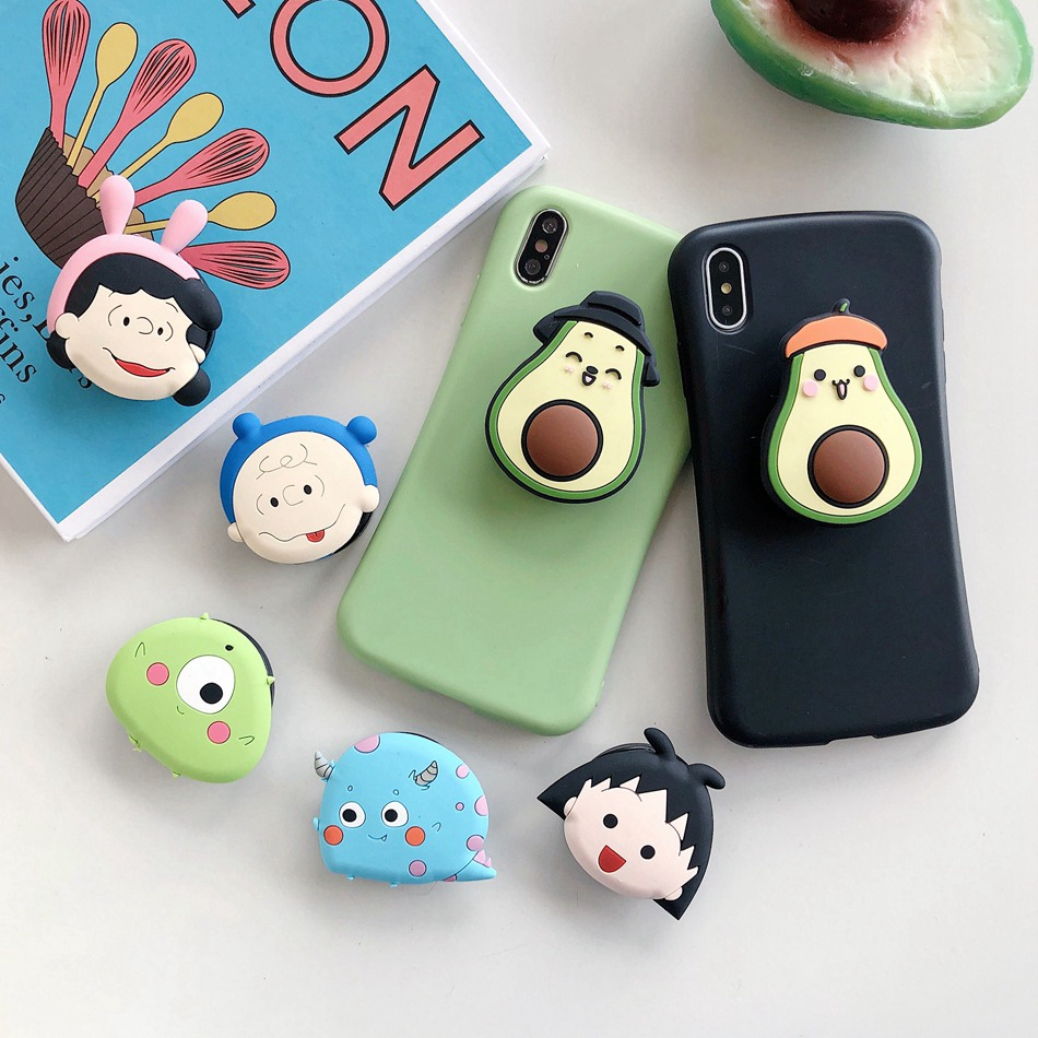 Universal Foldable Bracket Holder For IPhone Samsung Huawei Xiaomi OPPO VIVO Cute Cartoon Folding Ring Holder