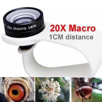 Mobile Phone Macro Lens 20X Super Cellphone Macro Lenses for Huawei xiaomi iPhone 6 7 8 10 Samsung Only Use 1cm Distance