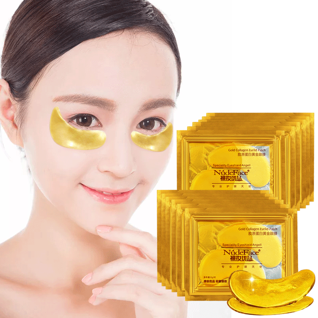 Cosmetics collagen eye zone mask Skin Care Crystal colagen eye mask Gold Eye patches Beauty under eye patches Korean 20pcs